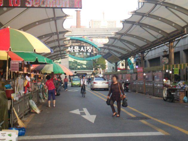 西門市場の一角(2015年10月撮影)