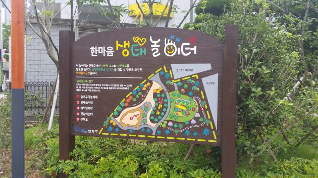 ハンマウム公園のマップ(2018年7月撮影)